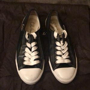 Used Cole Haan Converse Style Leather Sneakers